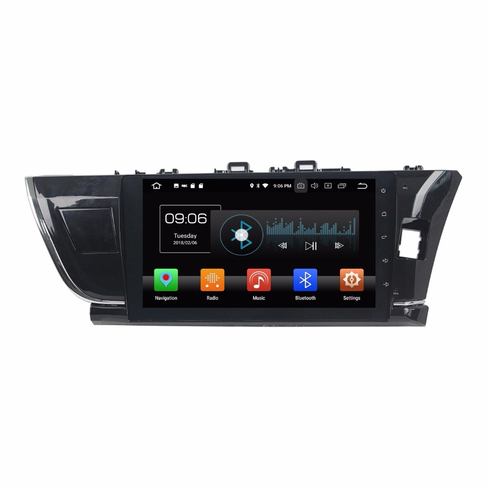 "Android 8,0 Octa Core 10,1 ""DVD мультимедиа gps для Toyota Corolla вправо 2014 2015 4 ГБ Оперативная память радио bluetooth WI-FI USB 32 ГБ Встроенная память"