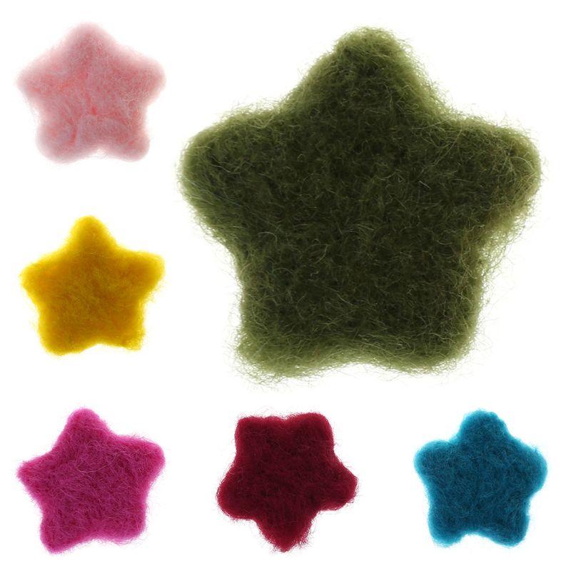 Aggressiv Fotografie Requisiten Filz Sterne Form Diy Baby Kleidung Kostüm Dekoration Bunte Woolen Foto Ornamente Neugeborenen Kinder Handgemachte