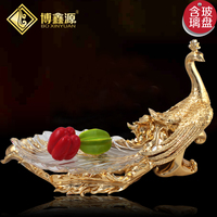 Manufacturers Selling Fruit Compote Phoenix Hotel Club KTV Table Glass Plate Home Furnishing European Fruit Plate