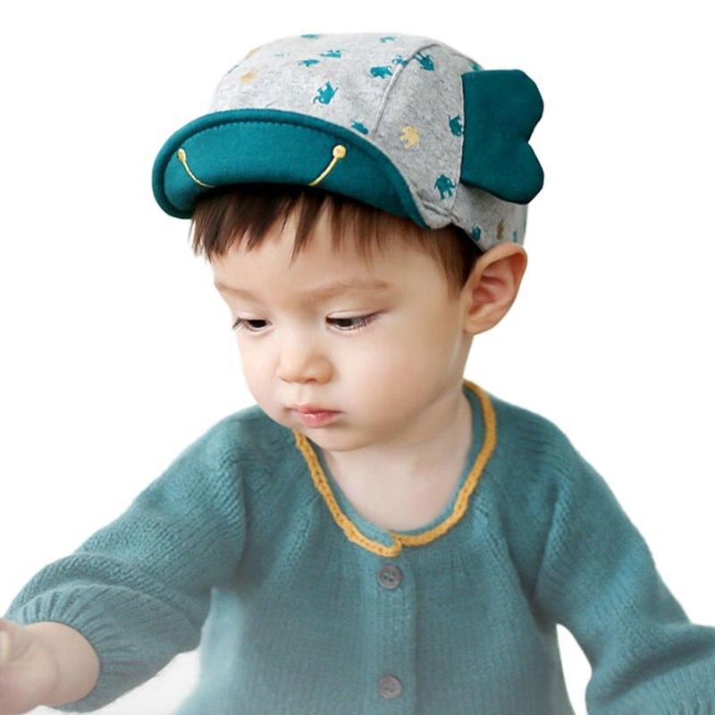 7ee7beb2acd3 Mignon Enfants En Bas Âge Casquettes Oreille D éléphant Style Infantile Garçon  Bébé Fille Chapeau À Visière Baseball Chapeaux Cap LH6s