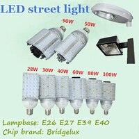E27 E26 E39 E40 Super Bright LED Street Lamp 30W 40W 60W 80W 100W Bridgelux Courtyard