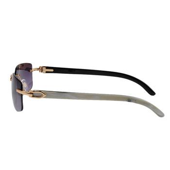 LONSY oryginalny bawoli róg wysokiej jakości okulary przeciwsłoneczne z wysokiej transmittace CR39 obiektyw tanie i dobre opinie CN (pochodzenie) Rectangle Dla dorosłych Drewniane Lustro UV400 Anti-odblaskowe Gradient Cr-39 LS4005 Buffalo Horn Sunglasses