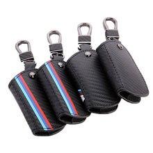 Icecare /// M Emblema Chave Do Caso Chave Do Caso De Fibra De Carbono Para Bmw E46 E90 F31 F10 Série 5 F20 F30 G30 X4 X5 X6 Para BMW E30 Chave Do Caso