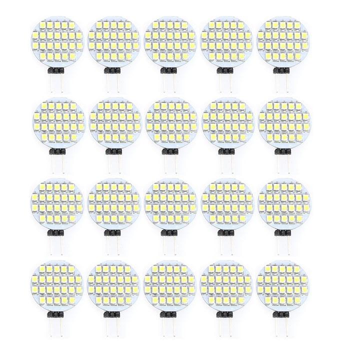 2016 New Hot 20PCs G4 24 LED 3528 SMD LED Spotlight RV Marine Car Light Bulb AC 12V White LED Bulb Lamp Light sencart 4pcs g4 smd 3528 26 led warm white dc 12v 2w marine boat camper light bulb lamp