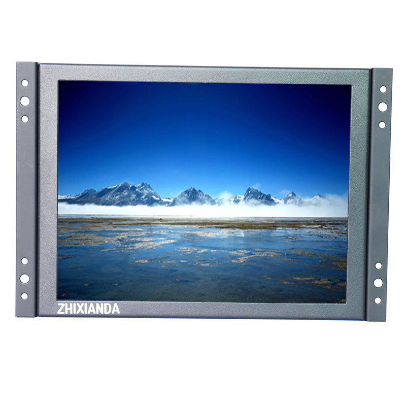12 inch open industrial embedded monitoring metal shell lcd monitor VGA/AV/BNC/HDMI/USB home security monitor kf08 8 inch open frame industrial lcd monitor with vga hdmi bnc usb av signal input