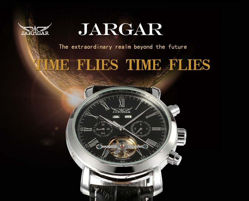 Jargar Express Alibaba 2016 Tourbillon New Brand Watches for men multifuntional gents saat