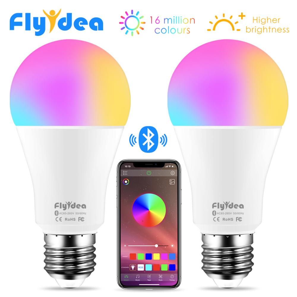 Wireless Bluetooth4.0 Smart Bulb LED Magic RGBW Home Lighting Lamp 10W E27 Color Change Dimmable AC85-265V Apply To IOS /Android(China)