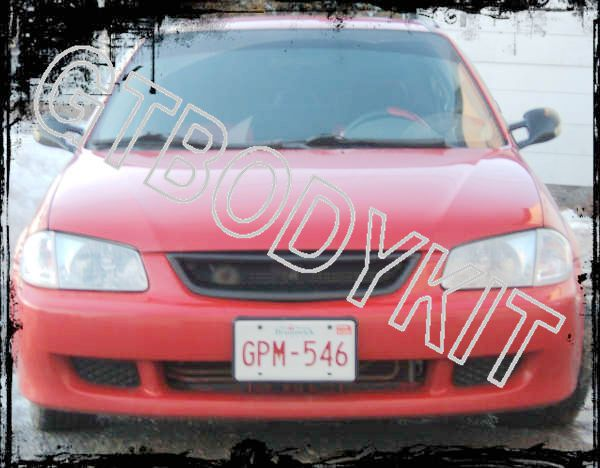 ФОТО FOR  1999-2000 PROTEGE 323 BADGELESS FRONT BUMPER MESH GRILLE, NEW UNPAINTED