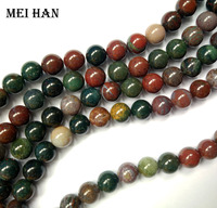 Wholesale Freeshipping Natural 10mm Blood Stone Round Loose Beads Stone For Jewelry Making Design