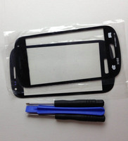 Black Front Touch Screen Outer Glass Lens Replacement Tool For Samsung Galaxy S3 Mini I8190BlackFrontGlass Tool