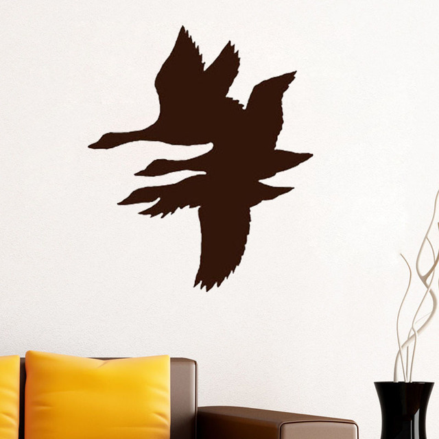 Zooyoo flying duck wall decal stickers duck home decor kids room wallpaper baby nursery decorations window