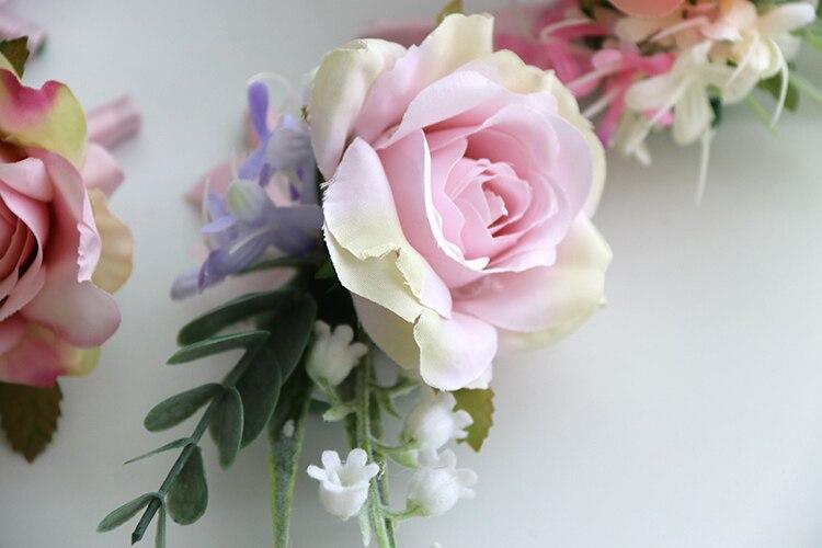pink wrist corsage boutonniere wedding  (5)
