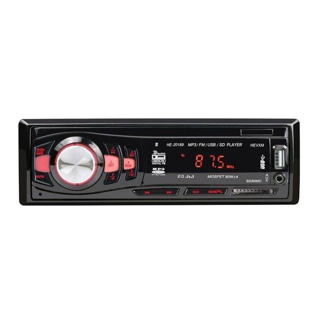 20189 12V1Din Voiture MP3 Lecteur De Voiture BT WMA Audio Lecteur de Musique TF Carte USB Flash Disque AUX in FM Émetteur avec Télécommande
