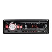 20189 12V1Din coche reproductor MP3 coche BT WMA reproductor de audio TF tarjeta memoria FLASH USB AUX en transmisor FM con Control remoto