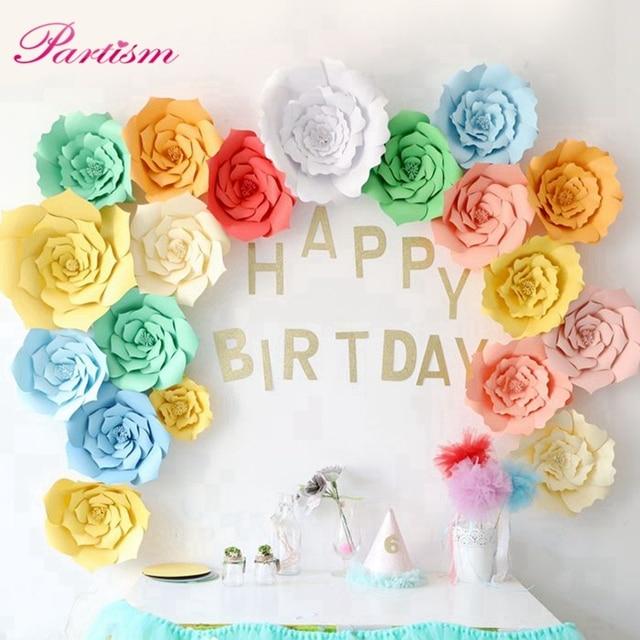 1PCS 40CM Paper Flowers Backdrop DIY Decor For Kids Room Home Garden