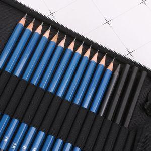 Image 4 - 32 pçs kit artista de desenho profissional lápis esboço de carvão vegetal arte artesanato com saco de transporte conjunto ferramentas pintura suprimentos conjuntos arte