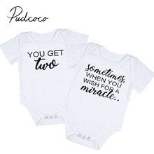 2017 Brand New Newborn Toddler Infant Baby Boys Girls Sister Brother Twins Bodysuit Matching Outfits Casual Clothes
