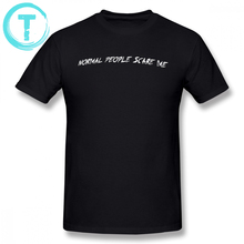 American Horror Story T Shirt NORMAL PEOPLE SCARE ME T-Shirt Basic Awesome Tee 100 Cotton Oversized Short-Sleeve Tshirt