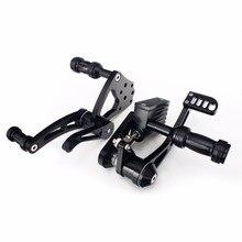 Bikingboy conjuntos de retrovisores para harley davidson, softail 84 85 86 87 88 89 99, controles traseiros para pés descanso de motocicleta corrida