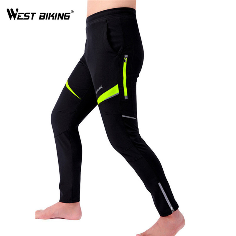 WEST BIKING Waterproof Cycle Pants Mens Bicycle Bike Pants Breathable Tights Riding Sport Warm Long Trousers Women Cycle Pants