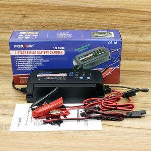 Image 3 - FOXSUR 12 V 2A 4A 8A Otomatik akıllı pil şarj cihazı, 7 aşamalı akıllı pil şarj cihazı, Araba pil şarj cihazı için JELI ıSLAK AGM akü