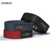 Scomas смарт-браслет Водонепроницаемый Смарт Браслет Спорт Фитнес трекер Шагомер отслеживания калорий сна Monitores Smart Band