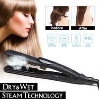 120 200 Electric Tourmaline Ceramic Steam Hair Straightener Brush Temperature Control Electric Fast Hair Straightener Tools