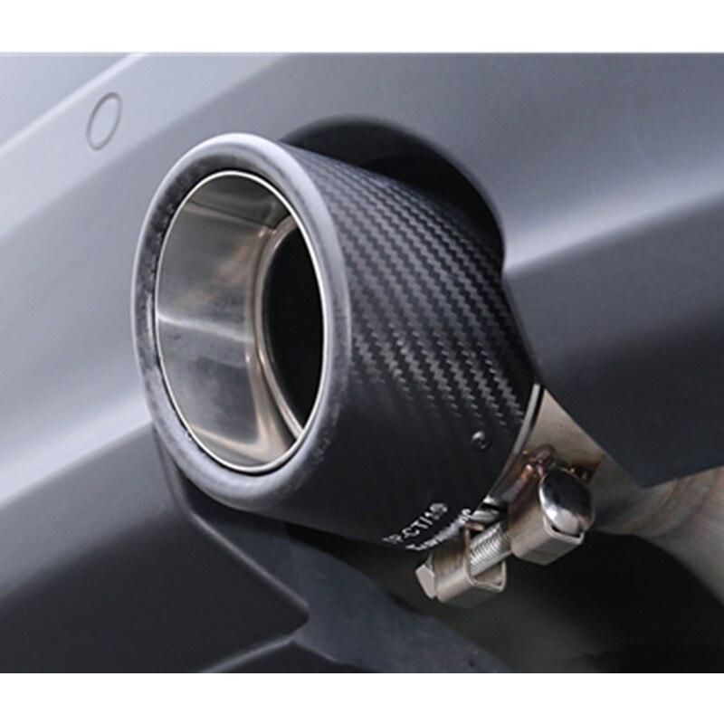 Ingyenes szállítás: 1X 114MM kimeneti fényes szénszálas - Autóalkatrész - Fénykép 6