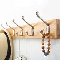 Solid wood door back coat rack bedroom clothes hook wall shelf room accessories wall hanger bathroom ZP5071432