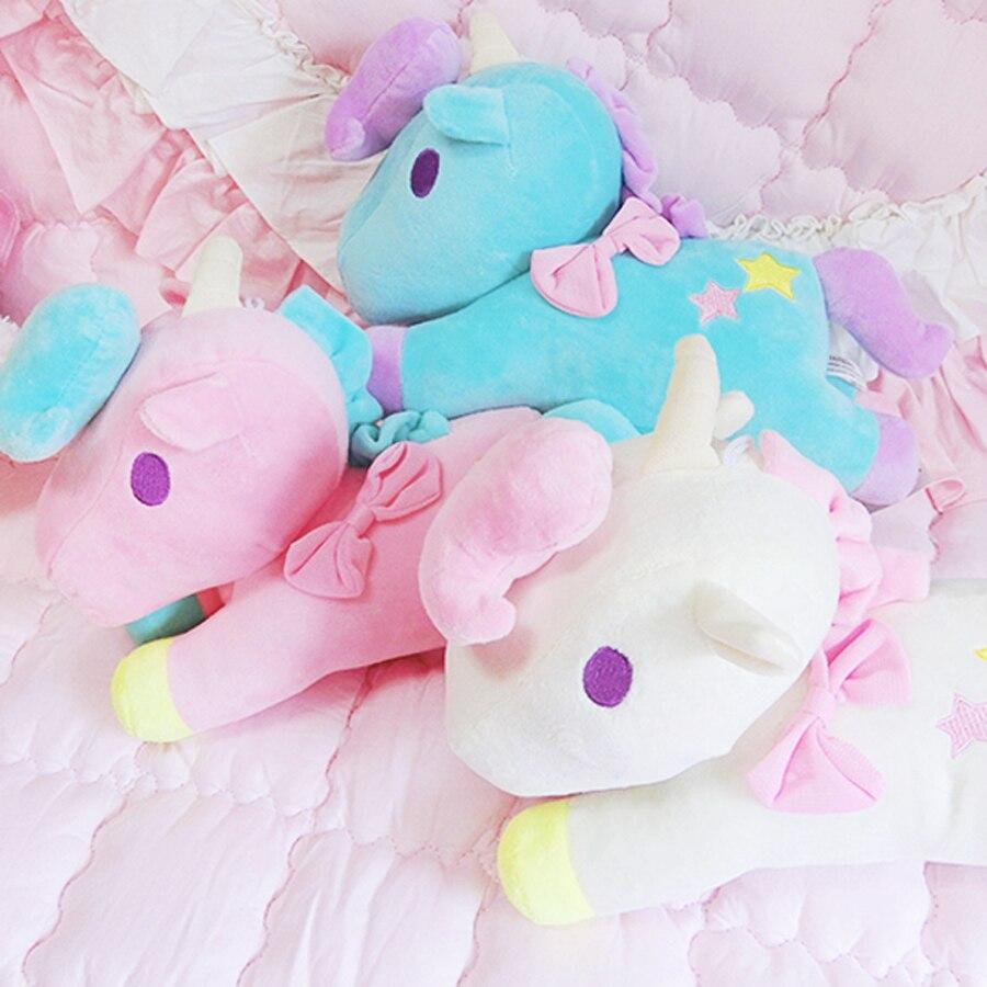 Bébé poupées jouets en Peluche mignon animaux De bande dessinée licorne en Peluche Cavalo De Brinquedo jouet De couchage Peluche Animali jouets pour enfants 60G619