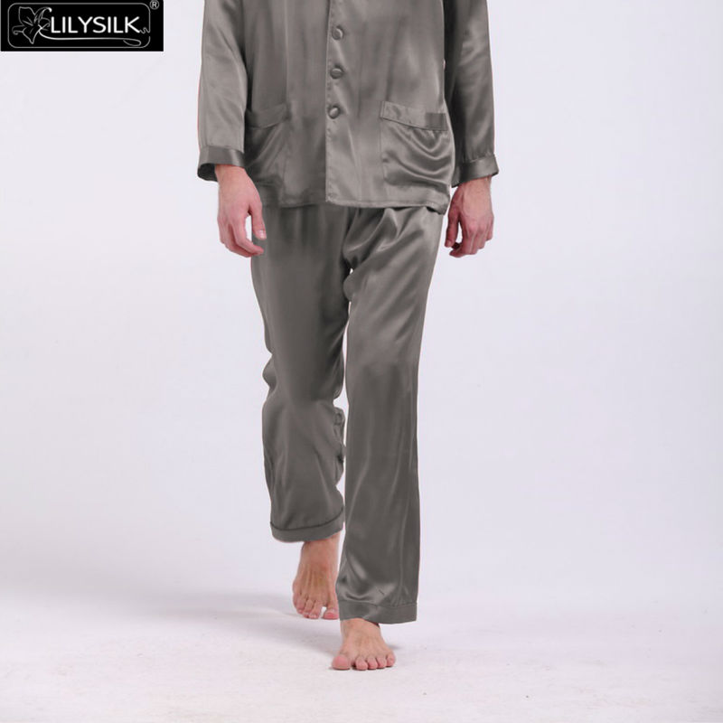 1000-dark-gray-22-momme-long-silk-pants-for-men