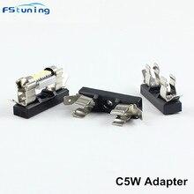 FSTUNING C5W держатель светодиодной лампы 31 мм 36 мм автомобильная лампа для чтения Светодиодная лампа для номерного знака держатель лампы гирлянда 31 мм 36 мм гнездо адаптер база