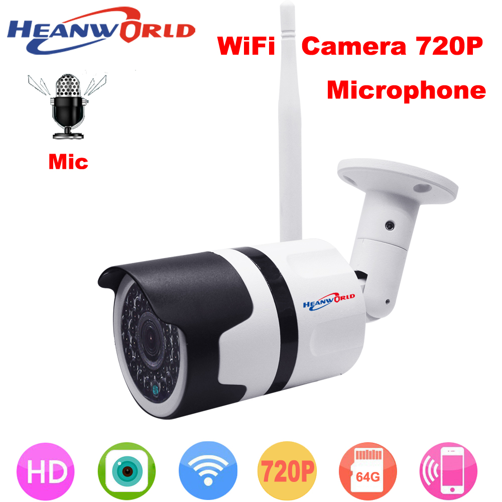 Surveillance Cameras Heanworld Wifi Camera With Microphone Ip Camera Hd 720p Sd Slot Home Security Camera Waterproof Surveillance Camera Outdoor Security & Protection