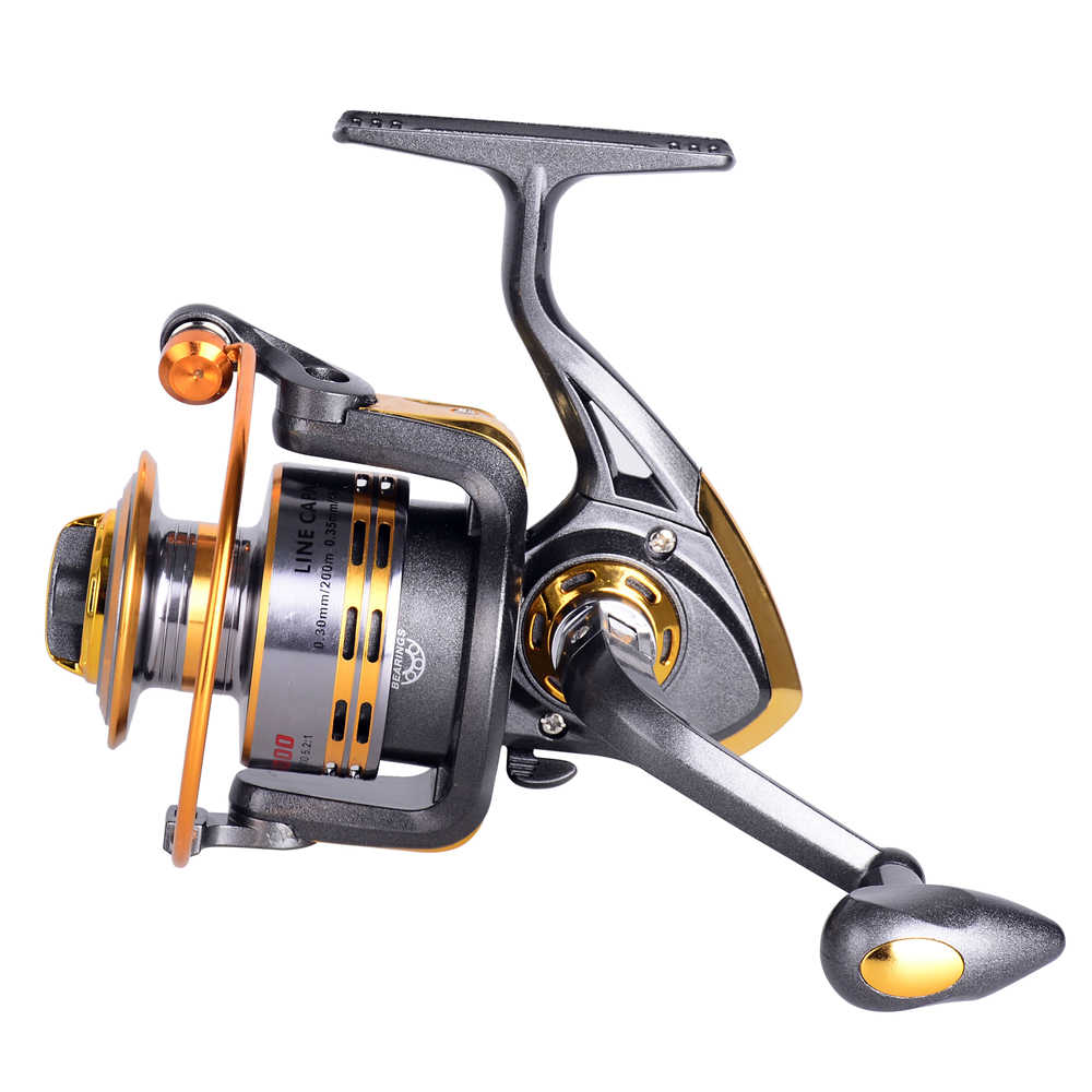 HiUmi New Fishing coil 500-6000 Spinning Fishing Reel Professional Metal Left/Right Han Fishing Reel Wheels