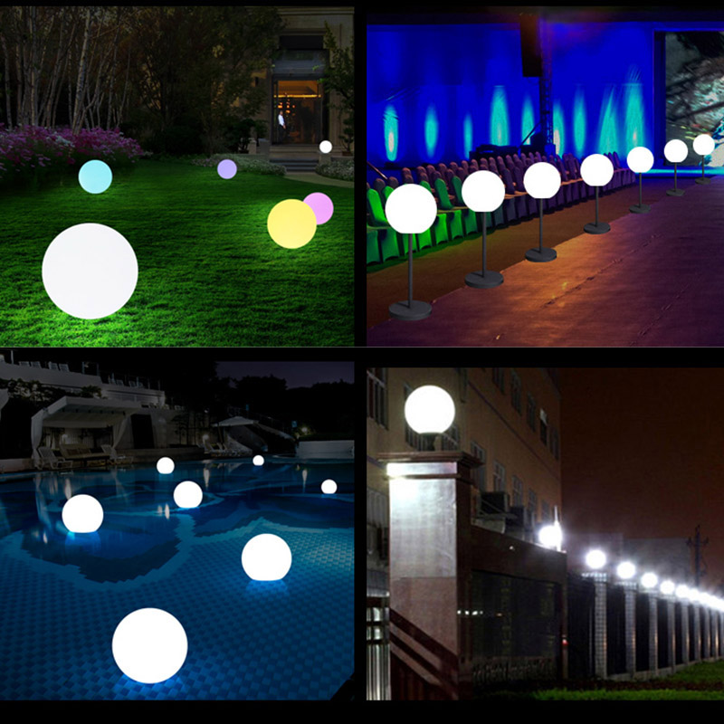 High LED Remote Controlled RGB Submersible Light Battery Operated Underwater Night Lamp Outdoor Ball Garden Party Decoration LG