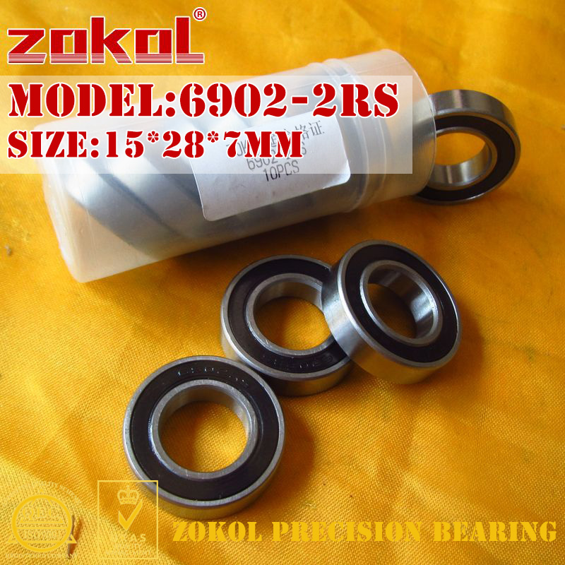 ZOKOL 6902-2RS bearing 6902 2RS 1000902 (61902) Deep Groove ball bearing 15*28*7mm zokol bearing 608 2rs z1 miniature deep groove ball bearing 8 22 7mm