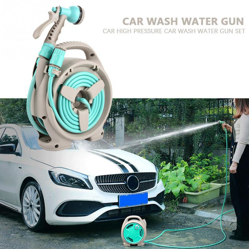 High Pressure Car Wash Water Spray Gun Car Clean Wash Kit W Water Pipe 6 Function Spray Cleaner Maintenance Tool Accessories