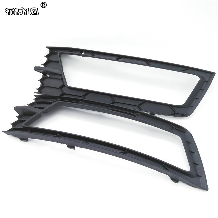 For Skoda Rapid 2013 2014 2015 2016 2017 Car-Styling Front Bumper Fog Lamp Fog Light Lower Grille Cover With Hole