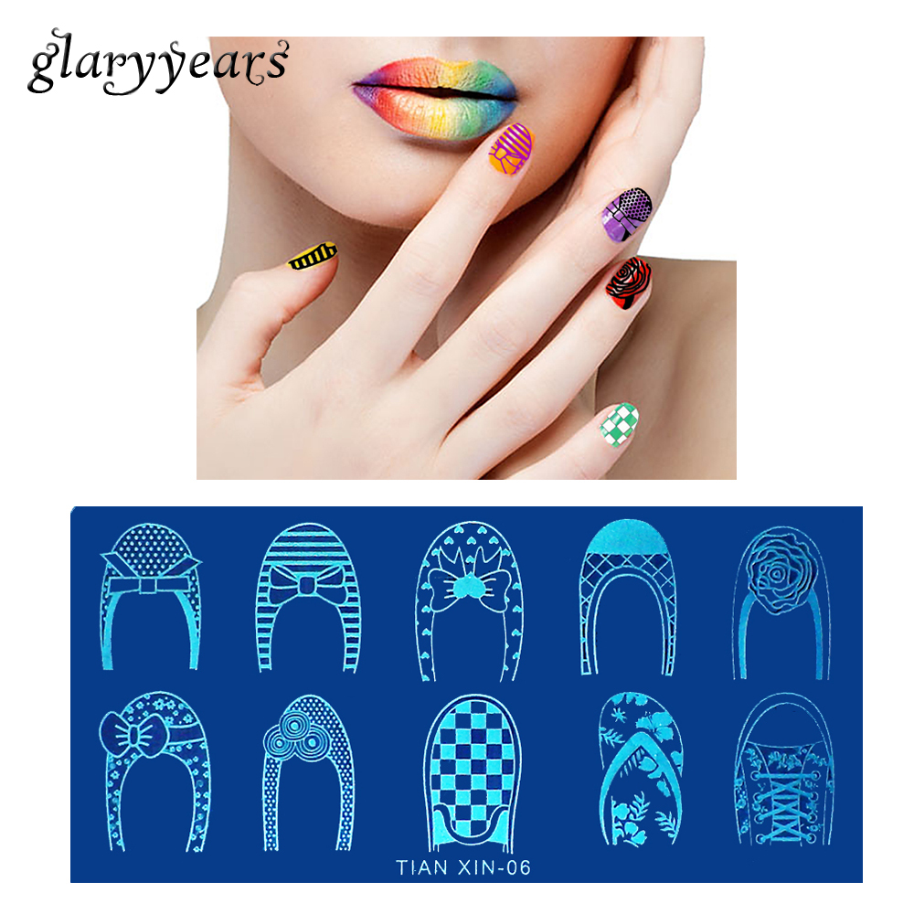 ᐂ1 Sheet Template Nail Art Stamping Plate Women Manicures Tool Shoe ...