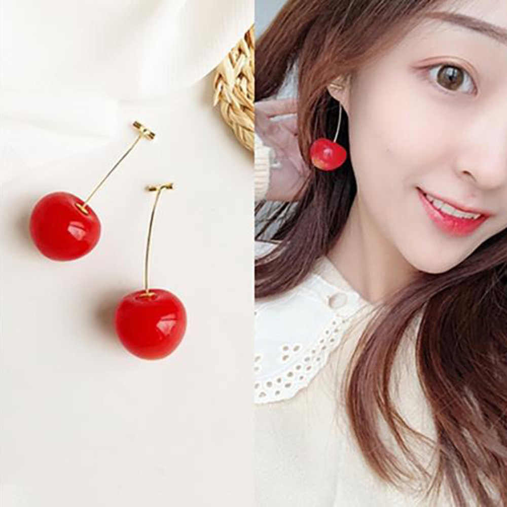 1 Pcs ผู้หญิงเข็มกลัดสีแดงเชอร์รี่ผลไม้ Pin Coat เสื้อกันหนาวเสื้อเข็มกลัดอุปกรณ์เสริม
