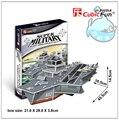 Образовательные игрушки 1 шт. CubicFun шарль де голль авианосец 3D бумаги известная модель монтаж в подарок