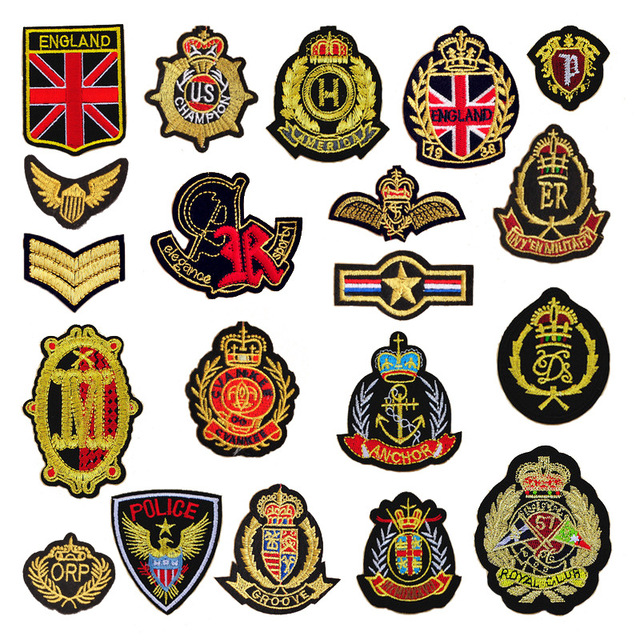 20pcs Royal style Patches Creative Decorative Clothing Patches Embroidery Patches ironing on Hat Coat Dress Pants Accessories