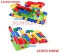 123 unids + loco divertido balanceo de la bola conjunto de bloques de construcción diy juguetes para niños compatibles con duplo