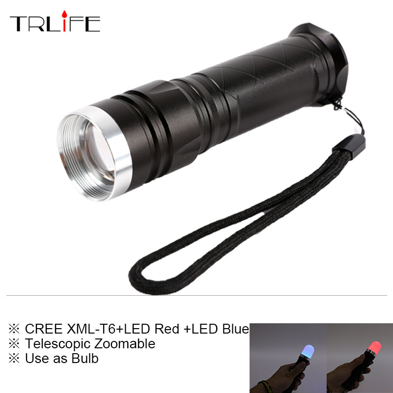 Newest Multi-functional XML-T6 Flashlight Camping Light Telescopic Zoom Flashlight Night Light Red and Blue Light Warning Light sitemap 27 xml