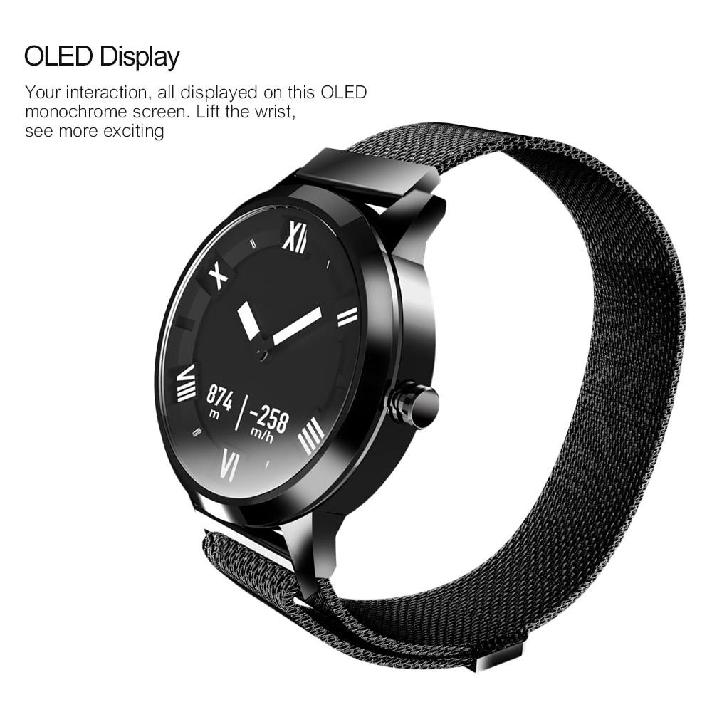Lenovo Montre X Plus Montre Smart Watch Milanese Mode Montre OLED Écran 80 m Étanche Fréquence Cardiaque/Air Pression/ surveillance de la température - 4