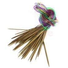 18 Шт. 120 см 47 «Обугленные Бамбуковые Спицы Многоцветный Трубки Круговой