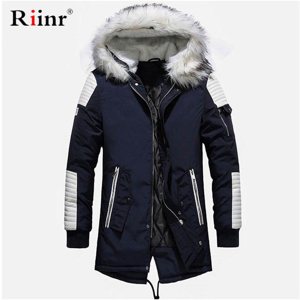 Tout nouveau Parkas d'hiver hommes épaissir Parkas décontracté Long Outwear à capuche col vestes et manteaux hommes veste homme en gros