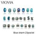 VIOVIA Moda DIY Joyería Europea Granos Del Encanto Adapta Pandora Pulseras Collares Colgantes Lote Venta 5 Colores Para Las Mujeres