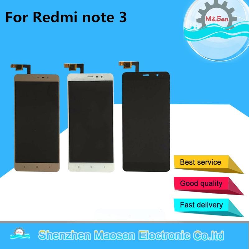 imágenes para M & Sen Para Xiaomi Redmi Nota 3 Hongmi Nota 3 pantalla LCD + touch panel digitalizador Negro/blanco/oro Libre del envío