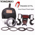 Yongnuo Macro Flash YN24EX ETTL Macro-photo Flash Double Head Flash-light for Canon 5DIII 5DII 7DII 80D 70D 750D 700D 650D